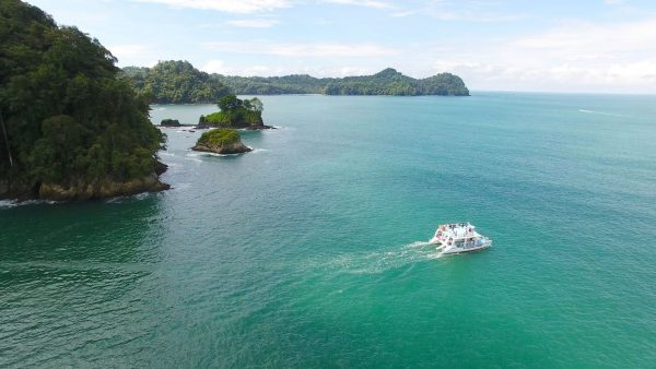 Manuel Antonio bay and Islands area catamaran with La Mariposa Hotel
